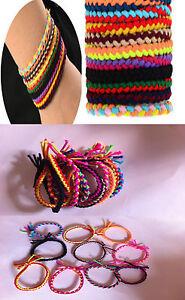 Multi-Colour Friendship Bracelets / Ponytail Bands - Adult / Kids, Party Bags