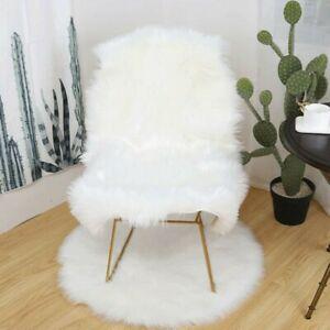 Fluffy Faux Fur Imitation Sheepskin Rug Chair Cover Mat Shaggy Floor Carpets SPW