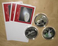 1999 Lao 3000 kip Yr. Rabbit Proof Color Silver COINS Set with COA