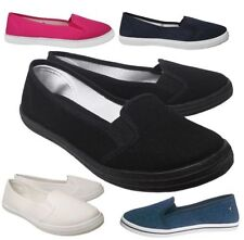 Women's Solid Canvas Casual Ballet Flats & Oxfords