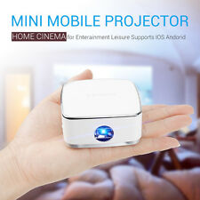 Pocket Mini Mobile Cubic LED Projector DLP Multimedia Home Theater SD Card USB