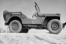 WW2 Photo WWII US Army Jeep Side View Study  World War Two / 3127