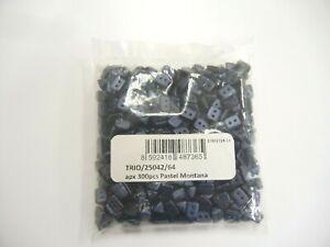 PRECIOSA,sealed pouch,appx.300 pcs. TRIO beads,#25025/64 pastel montana