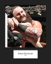 BRAUN STROWMAN #2 (WWE) Signed (Reprint) 10x8 Mounted Photo Print - FREE DEL