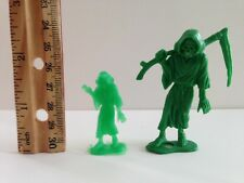 "Vintage 1960s Mini MPC 1 3/4"" Plastic Monster Grim Reaper Figure ""Cool Ghoul"""
