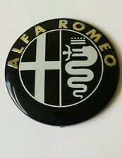 Set di 2 ALFA ROMEO AUTO NERA anteriore cofano/Boot Emblema 74mm