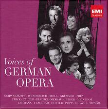 VOICES OF GERMAN OPERA. Schwarzkopf, Wunderlich, Moll, Prey, Stemme, 5 CDs, NEU