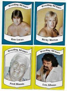 1983 Wrestling All Stars Series A: 29 Lucas 30 Morton 31 Blassie 32 Lou Albano
