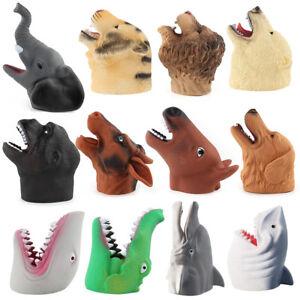 1x Rubber Wild Marine Animals Wildlife Hand Gloves Puppets Kids Childrens Xmas