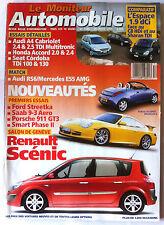 Le moniteur Automobile 20/03/2003; Salon de Genève/ Renault Scénic/ Audi RS6