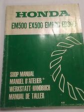 HONDA EM500 EX500 EM600 ED300 GENERATOR OEM SHOP WORKSHOP REPAIR MANUAL 1982