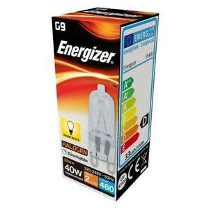 ENERGIZER G9 33W (40W) DIMMABLE Halogen bulb 460lm Warm White Capsule Lamp