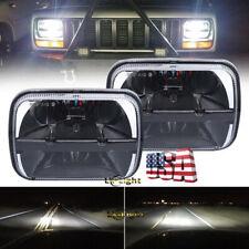 "DOT Pair 7x6"" 5x7"" LED Headlights Sealed Beam For Jeep XJ YJ Chevrolet GMC Truck"