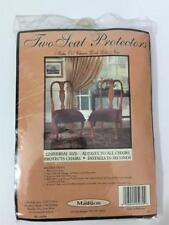 MADISON NEW 2 SEAT PROTECTORS ADJUSTS TO ALL CHAIRS COLOR TAN WASHABLE
