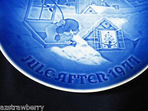 VTG Copenhagen Denmark B&G Porcelain Plate Jule After 1977 Christmas blue plate