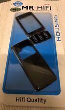 Nokia N82-Completo Fascia Cubierta Frontal NUEVO caso Teclado Negra De Repuesto