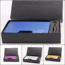 Aluminum Mini Card Holder Wallet Antimagnetic Metal Men Credit ID Dollar Gift