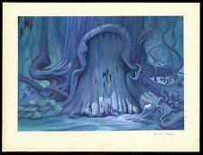 Disney Pre-Production Original Background Color Art, Gouache on Board, NM
