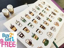PP293 -- Iced Coffee Cups Life Planner Stickers for Erin Condren (34pcs)