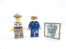 Criminal & Helicopter Pilot LEGO Minifigures Lot City 60068