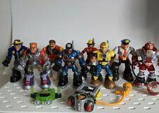 """1999,2000,2001, Mattel Fisher Price RESCUE HEROES 6"""" Inch Lot of 8"""