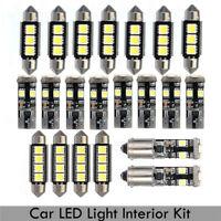 21x Canbus Error Free White Interior LED Light For BMW E46 Sedan Coupe M3 99-05