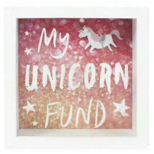 My Unicorn Fund Wooden Frame Money Box Piggy Bank