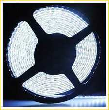 LED FLEXIBLE STRIP SMD 3528 120LED/METER STRIPE 5M 600LED WHITE WATERPROOF IP65