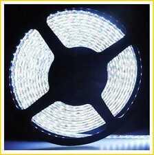 LED FLEXIBLE STRIP SMD 3528 120LED/METER STRIPE 5M 600LED WHITE WATERPROOF IP65