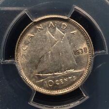 1938 CANADA SILVER 10c Dime NGC PCGS AU50 - LOW POP COIN!