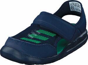 ADIDAS Unisex Toddler Navy/Green Forta Swim I Slides NIB