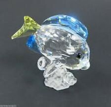 """Swarovski Crystal """"BLUE TANG FISH"""" Coloured Version-Mint & Complete with Box."""