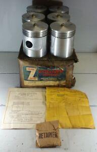 6 New Zollner 111 Semi Sized Pistons 1937-42 FWD Truck 38-41 Hug 40-42 Sterling