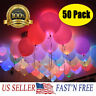 50-150 Pack LED Balloons Light Up Balloons Wedding Decoration Birthday PARTY US