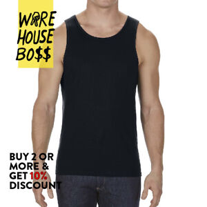 5 PACK AAA 1307 ALSTYLE MENS PLAIN TANK TOP CASUAL SLEEVELESS COTTON MUSCLE TEE