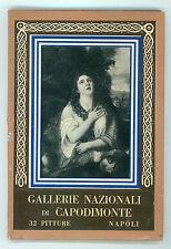 GALLERIA NAZIONALE DI CAPODIMONTE 32 PITTURE NAPOLI ALBUM RICORDO ANNI '60