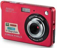 "AbergBest 21 Mega Pixels 2.7"" LCD Rechargeable HD Digital Camera Video Camera"
