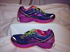 Womens Brooks Ghost 9 running shoes,purple,black,green