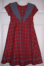 Pre-owned Dress by Bonnie Jean,Blue Accent Collar, Bow, Trim above Hem - Size 5
