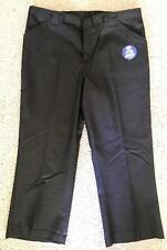 Dickies Girl Junior Capri Black Work School Uniform Kp710 New w/Tags