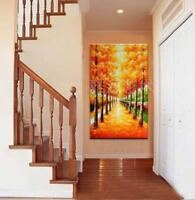 LMOP199 fancy 100% hand-painted tree landscape OIL PAINTING on CANVAS wall ART