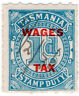 (I.B) Australia - Tasmania Revenue : Wages Tax 1d (1935)
