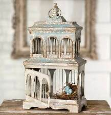 Shabby Chic Wood And Metal  Bird Cage Bird Houses,Table Decor-Weddings,19''H.