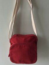 HOTTER ladies red canvas messenger crossbody shoulder bag
