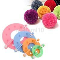 8Pcs 4Size Pompom Maker Fluff Ball Crocheting Knitting Craft Tool Accessories UK