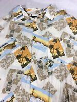 Puritan Mens Hawaiian Shirt 2XL (50-52) Aloha Button Shirt