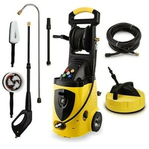 PRESSURE WASHER ELECTRIC 3800 PSI WATER CLEANER 30M HOSE TURBO HEAD  DECK CLEAN