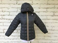 K-Way Kids Down Hooded Jacket Double Face Gray Orange