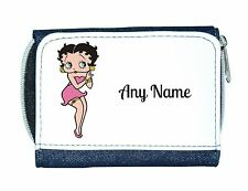 Personalised Denim Purse With Betty Boop Style Design