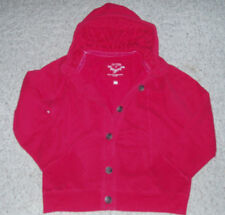 Womens SONOMA Warm Button Up Hoodie Sweatshirt Jacket~Red~Size M